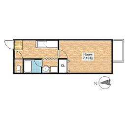 HOUSE I ROKUBANKAN[2-F号室]の間取り