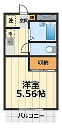 アムール桜ヶ丘[203号室]の間取り