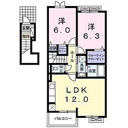 HunakaiII[0203号室]の間取り