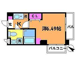 東京都調布市多摩川3丁目の賃貸マンションの間取り