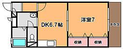 サニーハウスタムラ[1階]の間取り