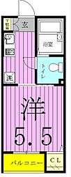 フォセット松戸・上本郷[103号室]の間取り