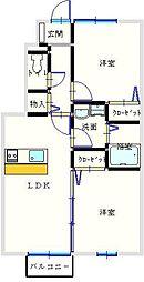 ユニティ−・タウン菜根屋敷[105号室]の間取り