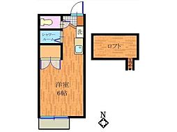 ハイツ玉城[1階]の間取り