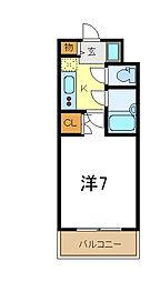 サンロード・スクエア・ショウワ 10階1Kの間取り