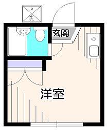 埼玉県新座市栗原6の賃貸アパートの間取り