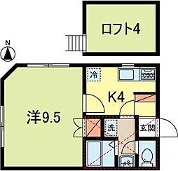 コートハウスワカナ[2階]の間取り