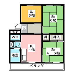 加藤ハイツA[3階]の間取り