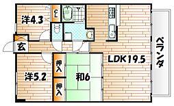クラブハウス企救丘[2階]の間取り