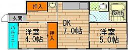 [一戸建] 大阪府大阪市港区南市岡2丁目 の賃貸【/】の間取り