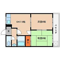 奈良県桜井市戒重の賃貸マンションの間取り