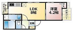 ざ・してぃ六甲山手5[1階]の間取り