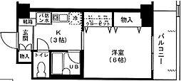 神奈川県横浜市青葉区田奈町の賃貸マンションの間取り
