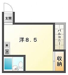 シャトーユニオン[3階]の間取り