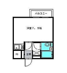 千葉県市川市新浜1の賃貸マンションの間取り