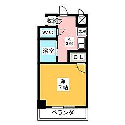 愛知県名古屋市中村区太閤4丁目の賃貸マンションの間取り