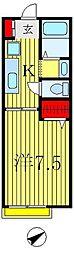 コーラルハウス[1階]の間取り