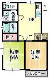 コントラストA棟[2階]の間取り