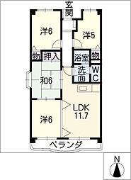 エスポワールKAWADE[2階]の間取り