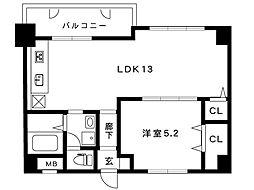 阪急神戸線 御影駅 5階建[114号室]の間取り