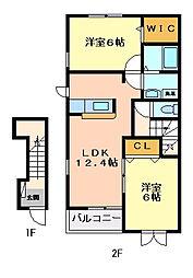 メゾン・ド・リアンX[2階]の間取り
