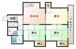 中村マンション[1階]の間取り