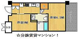 エステムプラザ神戸西Vミラージュ[7階]の間取り
