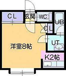 トークフラット文京台[1階]の間取り