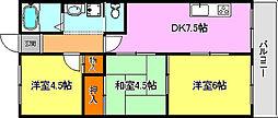 スパジオ西神戸[5階]の間取り