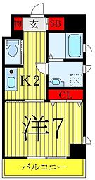 JR山手線 巣鴨駅 徒歩9分の賃貸マンション 10階1Kの間取り