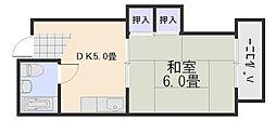 コーポ福島[3階]の間取り
