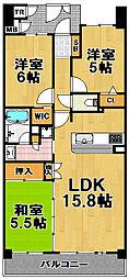 キングマンション大阪ベイ[2階]の間取り