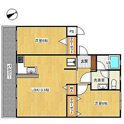 東戸塚ハイツ[304号室]の間取り