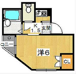 KHハイツ[2階]の間取り