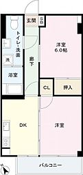 第二御苑マンション[3階]の間取り