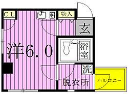 ベルトピア松戸第7[301号室]の間取り