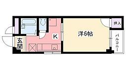 夙川・井上ビル[301号室]の間取り