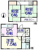 建物57.83m2の木造住宅あり