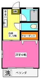 ハピネス千寿[1階]の間取り