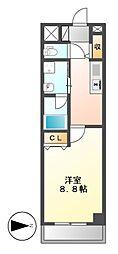 ニューシティアパートメンツ円上町[4階]の間取り
