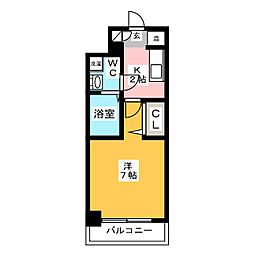パンルネックスクリスタル博多駅南II[4階]の間取り