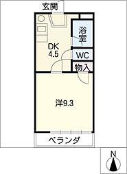 ソワサント フジ[1階]の間取り