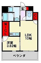 JR鹿児島本線 戸畑駅 徒歩8分の賃貸マンション 10階1LDKの間取り