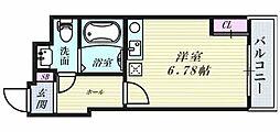 サンクチュアリ北梅田[502号室]の間取り