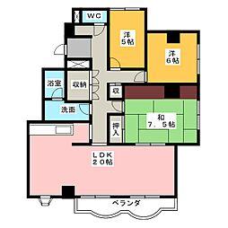 メゾン・ド・蜆塚[2階]の間取り