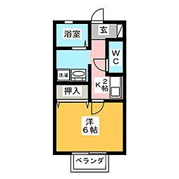 セジュール大福[2階]の間取り