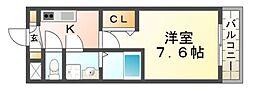 シエテ杭瀬南[1階]の間取り