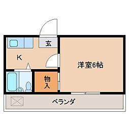 奈良県奈良市今在家町の賃貸マンションの間取り