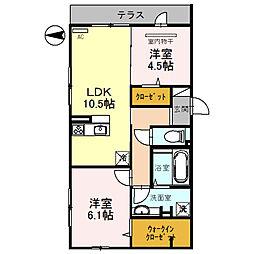 はぁ〜と・六万寺[1階]の間取り