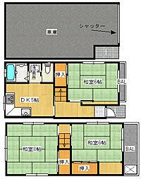 [一戸建] 大阪府大阪市福島区吉野5丁目 の賃貸【/】の間取り